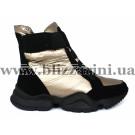 Ботинки 1552-F28-3 black/bronz текстиль (искусст мех) бот з