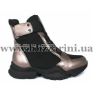 Ботинки 1552-N681 black/bronz текстиль (искусст мех) бот з