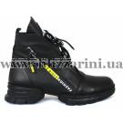 Ботинки 493-K 01 19113 черная кожа (полн мех) бот з