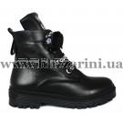 Ботинки 54 14 черная кожа (полн мех) бот з
