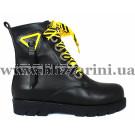 Ботинки 941 01 черная кожа (полн мех) бот з