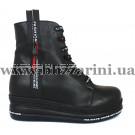 Ботинки G229 20627 B-001 черная кожа (полн мех) бот з