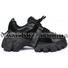 Кроссовки, кеды 238-3-1 черная кожа туф