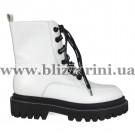 Ботинки 1905-701A белая кожа бот