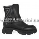Ботинки BZ206-4R-A (полн мех) черная кожа бот з