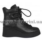 Ботинки BZ222-4R-A (полн мех) черная кожа бот з