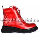 Ботинки 18J813-0501J-6261 красная масло кожа бот