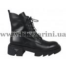 Ботинки 21B067-B117-NP332B черная кожа бот