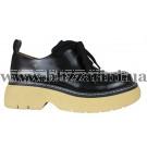 Туфли G02102F-G28 черная кожа туф