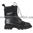 Ботинки H6119-918-227 черная кожа бот