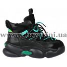 Кроссовки, кеды K902-1-H черная кожа бот