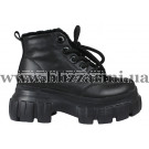 Ботинки 20829M-3-H (полн шерсть) черная кожа бот з