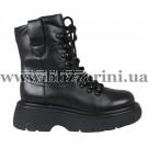 Ботинки BZ266-2M-A (полн мех) черная кожа бот з