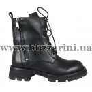 Ботинки H2520-3609-0990 черная кожа бот