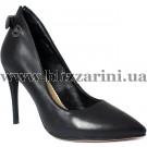 Туфли модельные DA6609-W3-A1003  black кожа  туф