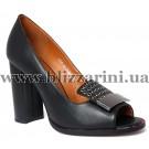 Летний туфель 1818-32-T1804  черная кожа  туф