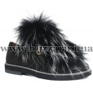 Летний туфель 113 108  черная кожа сатин  туф