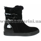 Ботинки F865-L80M-N956P (полн мех)  черный замш  бот з
