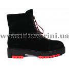 Ботинки 8W302-UB428-015G (полн мех)  черный замш  бот з