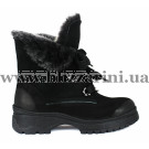 Ботинки 623 97 черный нубук (полн мех) бот з