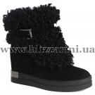 Ботинки PA137-8798-005 (полн мех)  черный замш  бот з
