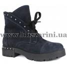 Ботинки 235 836 02  (полн мех)  синий нубук  бот з