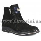 Ботинки G009 219 818-841 (полн искус мех)  черный нубук  бот з
