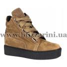 Ботинки 1112 30 3769 (полн мех)  коричневый нубук  бот з