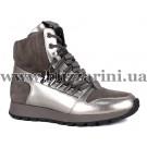Сникерсы 1396P-3-TM1-YJ2  серый замш+кожа  бот