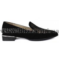 Туфли A1092-6624-02 черный замш л-т