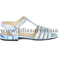 Сандалии Z240-90H-Y594K голубая кожа л