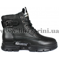 Ботинки 1015-1 черная кожа бот