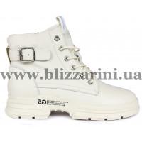 Ботинки 1015-2 бежевая кожа бот