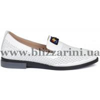 Туфли G020 35 09 (бол разм) белая кожа л-т