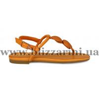 Сандалии 1025 14 оранжевая кожа л