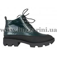 Ботинки F1073-01-N1140P зеленая кожа бот