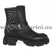 Ботинки BZ206-4R-A черная кожа бот