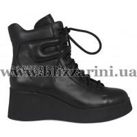 Ботинки BZ222-4R-A черная кожа бот