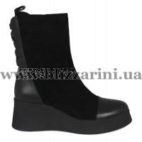 Ботинки BZ222-1R-A P53 черный замш/кожа бот