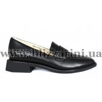 Туфли S702-11-Y576A-9 черная кожа туф
