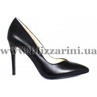 Туфли S363-75-Y021K черная кожа туф