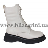 Ботинки 18J813-0705M-6391 (полн мех) (мал разм) серая кожа бот з