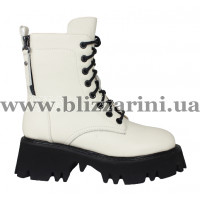 Ботинки LE78-03-NP588G (полн мех) (мал разм) молочная кожа бот з