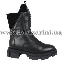 Ботинки BZ206-22M-A (полн мех) черная кожа бот з