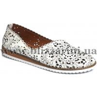Туфли комфорт 0407-58.92  white leather белая кожа  л-т