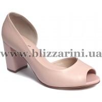 Летний туфель Z123-80H-Y351K  pink кожа  л-т