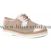 Летний туфель C2-0752   pudra flotar розовая кожа  туф