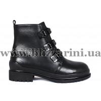 Ботинки 6A505-H149R-N219  черная кожа  бот