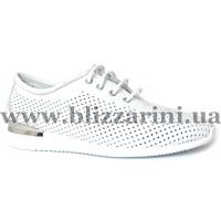 Летний туфель 034-15 188 HK10  белая  кожа  туф
