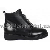 Ботинки 2F657-B153M-N61 (полн мех)  черная кожа  бот з